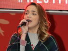 X Factor's Lauren Platt surprises shoppers with Christmas performance