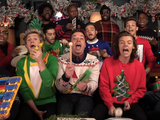 One Direction with Jimmy Fallon and The Roots covering 'Santa Claus is Coming to Town'
