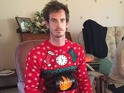 Andy Murray in Christmas jumper