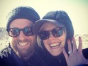 The happy couple announce their engagement while on vacation in California.