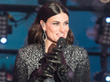 Idina Menzel performs during New Year's Eve 2015 in Times Square