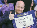 A prank at the PDC World Darts Championship means his odds are cut by bookmakers.