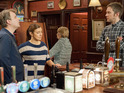 Michelle has an awkward moment at The Rovers in tonight's episodes.