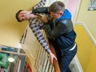 Ste turns up at Connor's student house in an angry mood.