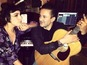 Lady Gaga in the studio with RedOne