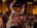 The actor strikes again with his photobombing skills at Golden Globes ceremony.