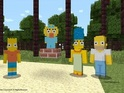 The pack allows users to create their own blocky versions of the Simpsons family.