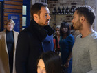 Mick arrives at Blades demanding a word with Dean.