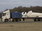 Giant model of Top Gear's Stig goes on European tour on flatbed truck