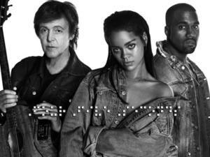 Rihanna with Paul McCartney and Kanye West