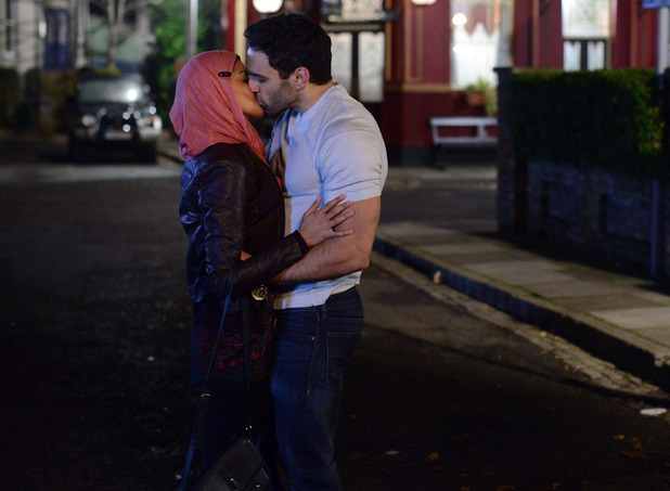 Shabnam and Kush kiss