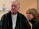 Michael is led into the operating theatre as Gail waits nervously for news.