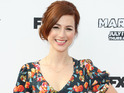 Aya Cash is guest starring as a college interviewer.