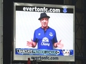 Hollywood star asks Everton fans to make some noise for his latest film.