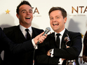 The duo beat Keith Lemon, Dermot O'Leary and Bradley Walsh to the prize.
