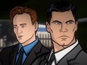Conan and Sterling Archer are chased by Russian mobsters in the animated video.