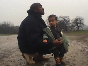 Kanye and Nori in 'Only One' video