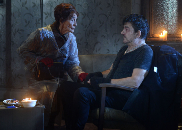 Dot tells Nick her decision about the drugs and says she wants to help him