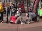 Watch WWE finishers get hit in public