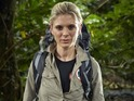 Grylls is forced to dive in to save the Silent Witness actress in a new clip.