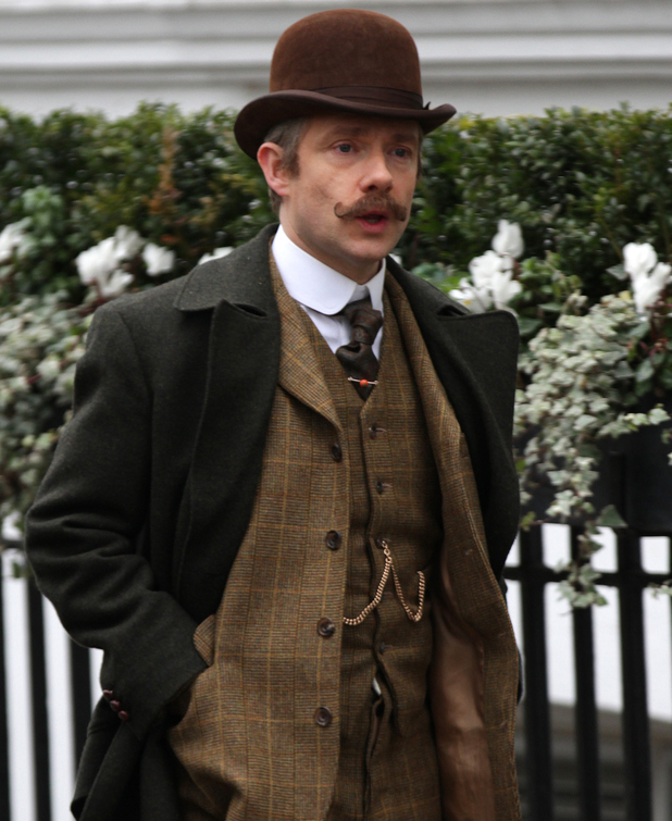 Sherlock Holmes filming in London, Martin Freeman,