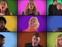 The acts all record vocals for Jimmy Fallon's epic Super Bowl tribute.