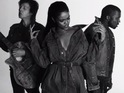 The black-and-white clip features her collaborators Kanye West and Sir Paul McCartney.