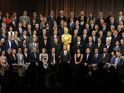 All the nominees - bar Benedict Cumberbatch - pose for the 2015 Oscar portrait.