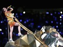 Katy Perry performs at Super Bowl XLIX