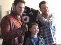 Guardians star visits Boston's Christopher's Haven children hospital.