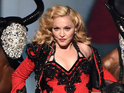 LOS ANGELES, CA - FEBRUARY 08: Recording artist Madonna performs onstage during The 57th Annual GRAMMY Awards at the STAPLES Center on February 8, 2015 in Los Angeles, California. (Photo by Kevin Winter/WireImage)