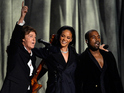 Rihanna, Kanye West and Paul McCartney unite at 57th Grammy Awards.