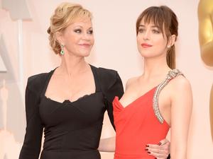 Melanie Griffith and daughter Dakota Johnson at Oscars
