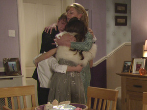 Jane, Ian, Cindy and Bobby comfort each other