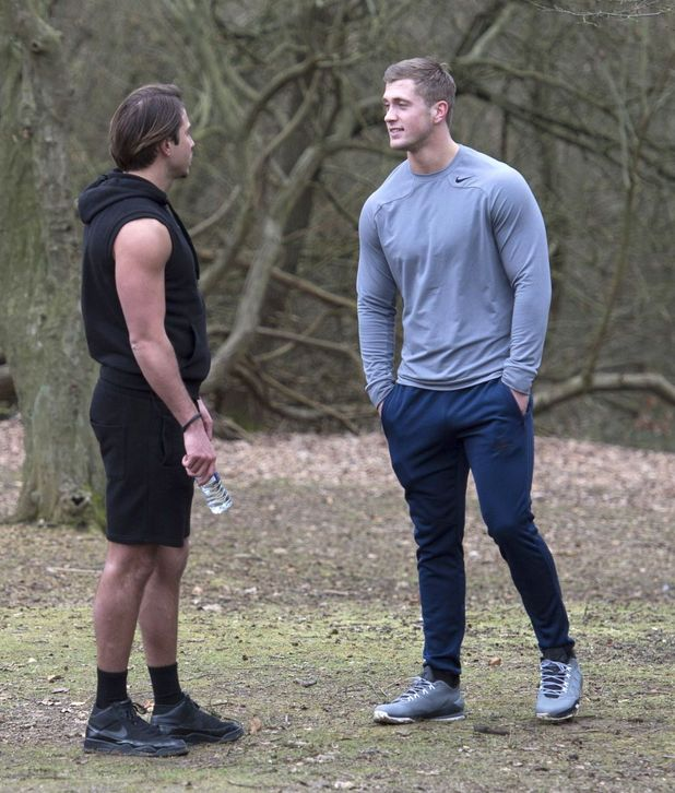 'The Only Way is Essex' cast filming, Epping Forest, Essex, Britain - 19 Feb 2015 Georgia Kousoulou James Lock and Dan Osborne 19 Feb 2015