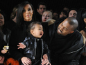 Kanye West and Kim Kardashian West's daughter overcome by emotion at New York Fashion Week.