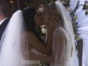 Are Santana and Brittany the only couple to tie the knot in 'A Wedding'?