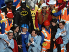 Tegan and Sara, Lonely Island... and Will Arnett as Batman do 'Everything Is Awesome'.