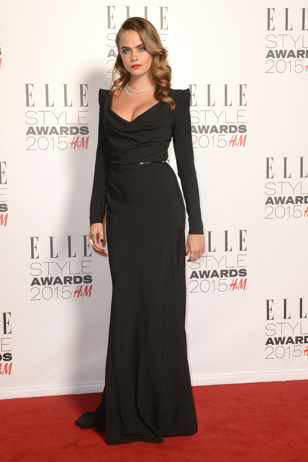 Cara delevingne attends the elle style awards 2015 at sky garden the