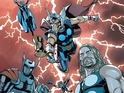 Jason Aaron and Chris Sprouse deliver a Secret Wars tie-in with multiple Thors.