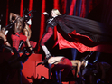 Madonna falls during Brit Awards