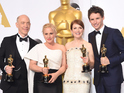 Julianne Moore, Patricia Arquette and JK Simmons also among the winners at the 87th Academy Awards.
