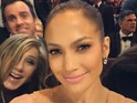 The stars give us a glimpse of some backstage antics during the Academy Awards.