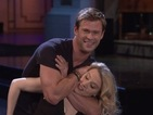 Chris Hemsworth and Kate McKinnon's SNL Dirty Dancing lift goes very wrong