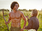 See a shirtless Aidan Turner topping up his tan on Poldark set