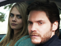 Cara Delevingne, Daniel Brühl in The Face of an Angel