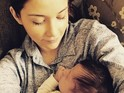 EastEnders actress welcomed her first child with Dan Osborne last month.