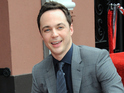 Jim Parsons is joined by his castmates as he receives the accolade.