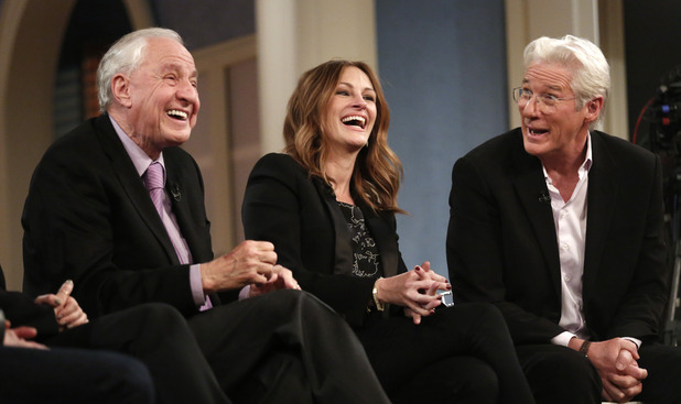 Caption:TODAY -- Pictured: (l-r) Garry Marshall, Julia Roberts and Richard Gere appear on NBC News' 'Today' show -- (Photo by: Peter Kramer/NBC/NBC NewsWire via Getty Images)