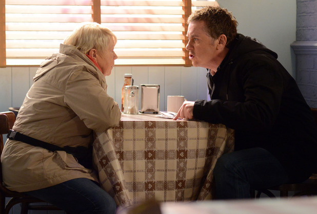 Alfie is furious when Mo tells him she took Harry's money for Kat.